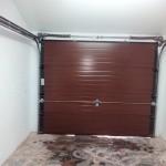 Puerta seccional, vista interior.